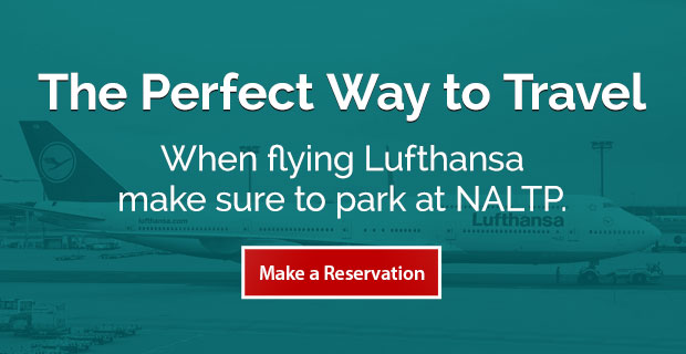 Lufthansa Newark Airport Parking Banner