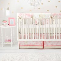 Pink and Gold Crib Bedding | Girl Baby Bedding | Pink Crib ...