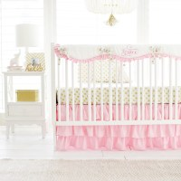 Pink and Gold Crib Bedding | Pink and Gold Baby Bedding ...