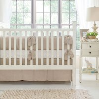 Linen Crib Bedding | Linen Baby Bedding | Neutral Nursery ...