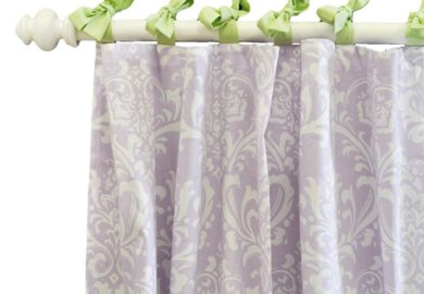 Lavender Nursery Curtains