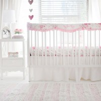 Floral Crib Bedding | Pink Baby Girl Bedding | Pink Floral ...