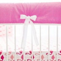 Flamingo Crib Bedding | Pink Baby Bedding | Flamingo Nursery