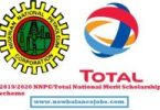 2019/2020 NNPC/Total National Merit Scholarship scheme