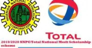 2019/2020 NNPC/Total National Merit Scholarship scheme