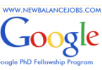 Google PhD Fellowship Program 2020