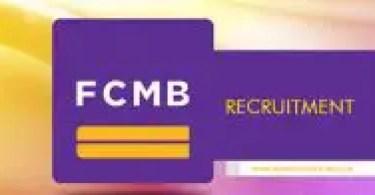 FCMB Recruitment