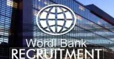 World Bank recruitment
