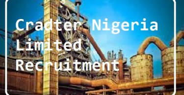 Cradter Nigeria Limited Recruitment