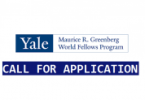 Yale Greenberg world fellows program