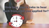How long does it take to hear back from a job you applied for?