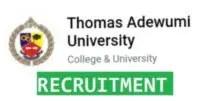 Thomas Adewumi University recruitment