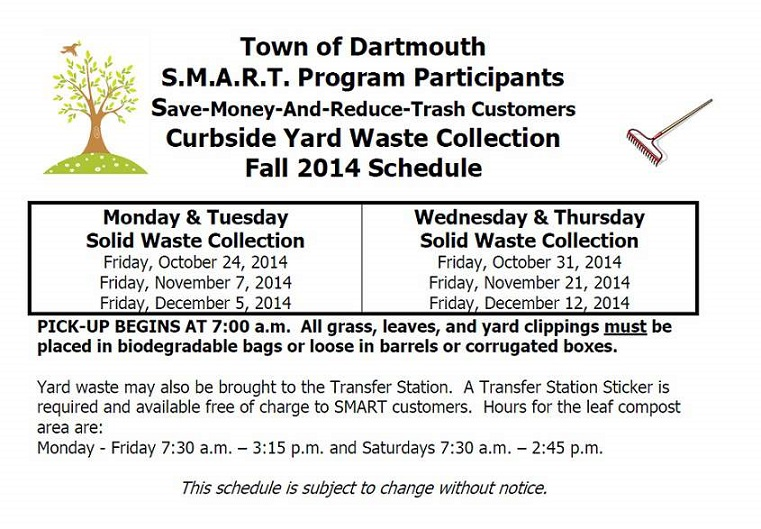Dartmouth Curbside Yard Waste Collection Fall 2014