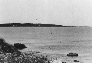 To the south, a view of Cuttyhunk Island. Photo by Joseph D. Thomas