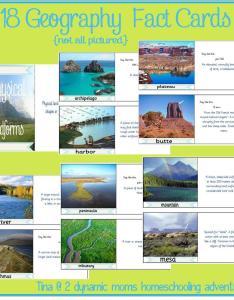 free colorful geography fact cards about landforms for homeschool etc also all the world is art rh alltheworldisart funcreativitygodspot