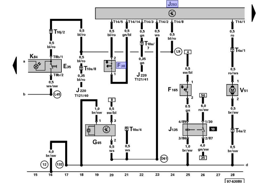 bmw water pump wiring diagram
