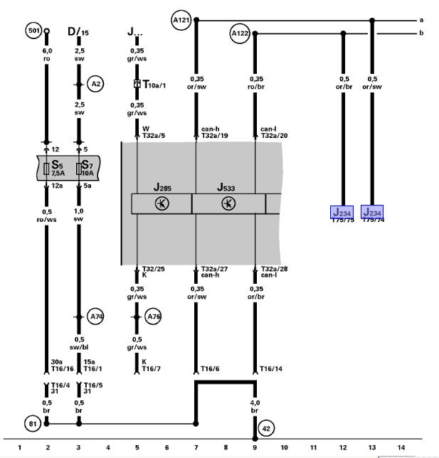 Instrument cluster, Data Link Connector Wiring Diagram