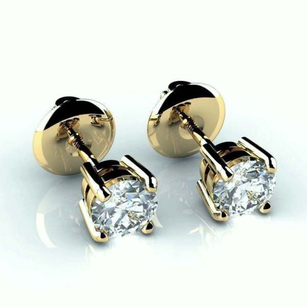 18ct Gold 1 Carat Diamond Stud Earrings 47900 - Newburysonline