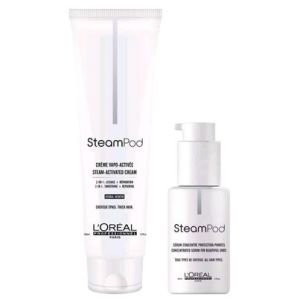 L'ORÉAL Professionel Steampod Vapo-Activated Cream  + Steampod Ends protecting concentrated serum