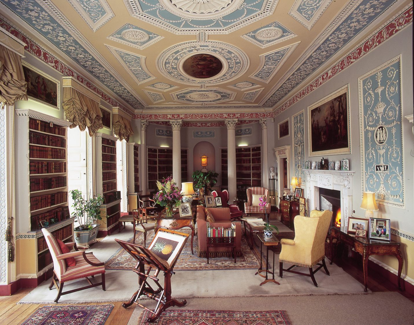 The Library  Newby Hall