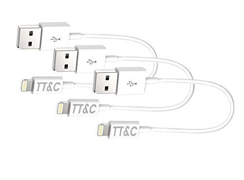 TT&C iPhone Lightning Short Cable 7inch 3-Pack Supreme