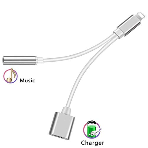 Headphone Adapter for iPhone 3.5mm Jack Headset Charge 2