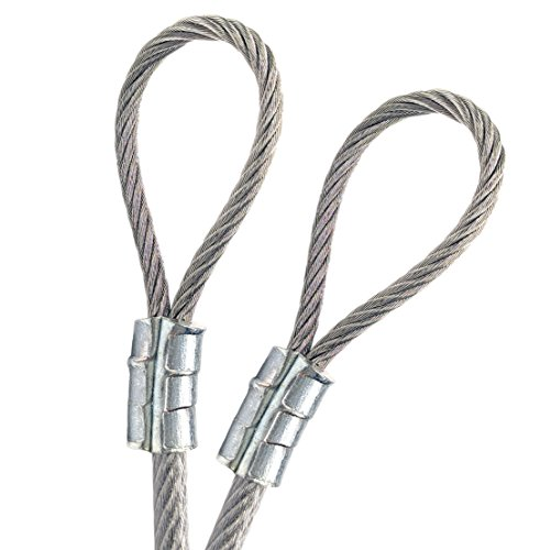 PSI, 1/4″ Vinyl Coated Galvanized Steel Cable with Looped