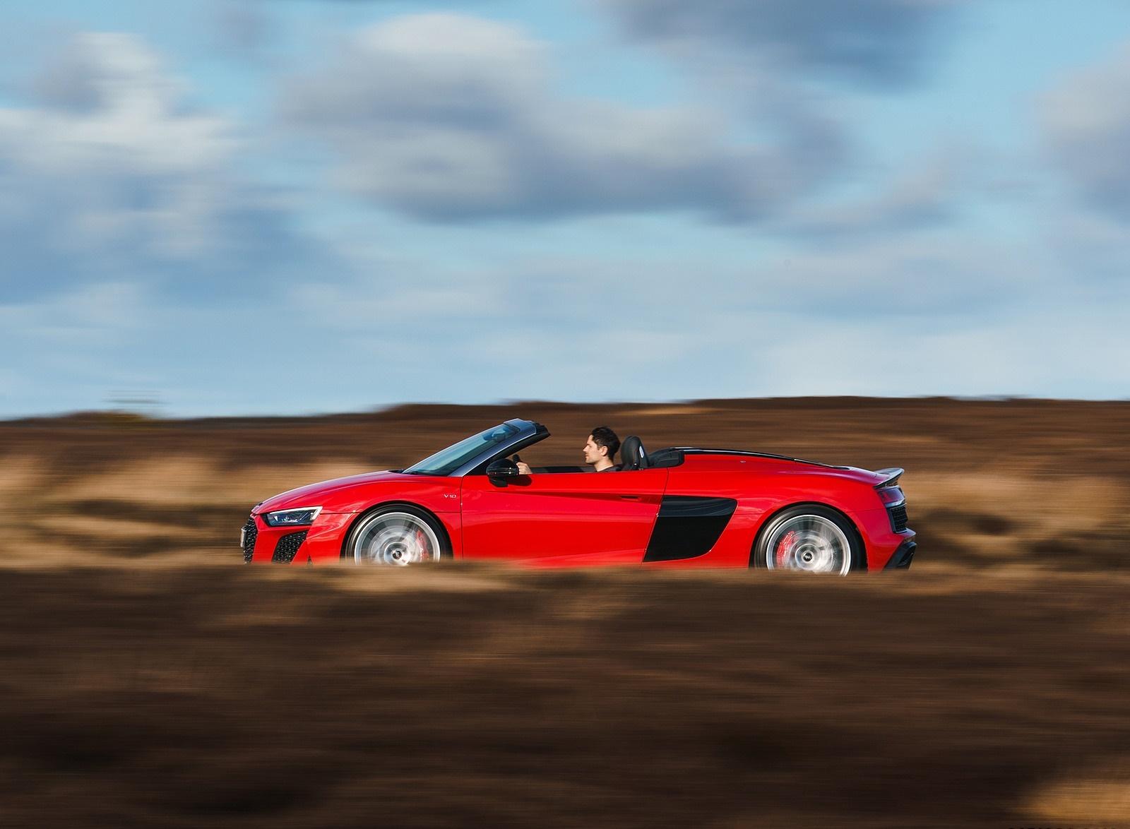 2019 Audi R8 V10 Spyder Performance Quattro Uk Spec Side Wallpaper