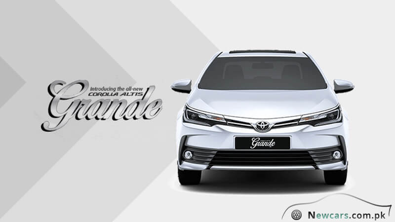 brand new toyota altis price harga grand veloz review the corolla grande 2018 model in pakistan front exterior