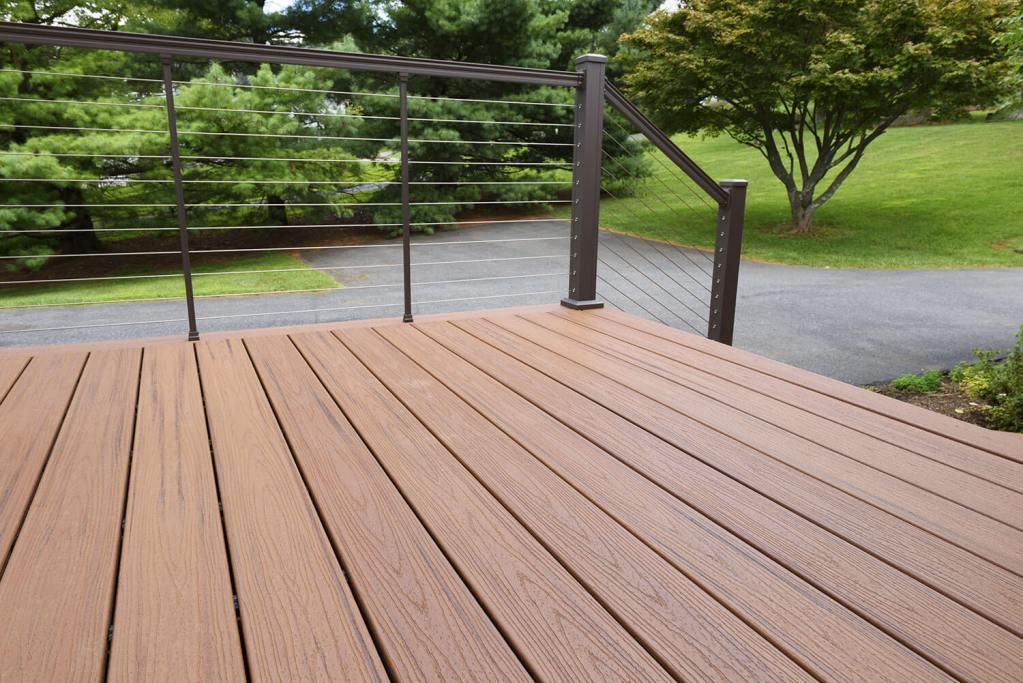 decking installation for deck