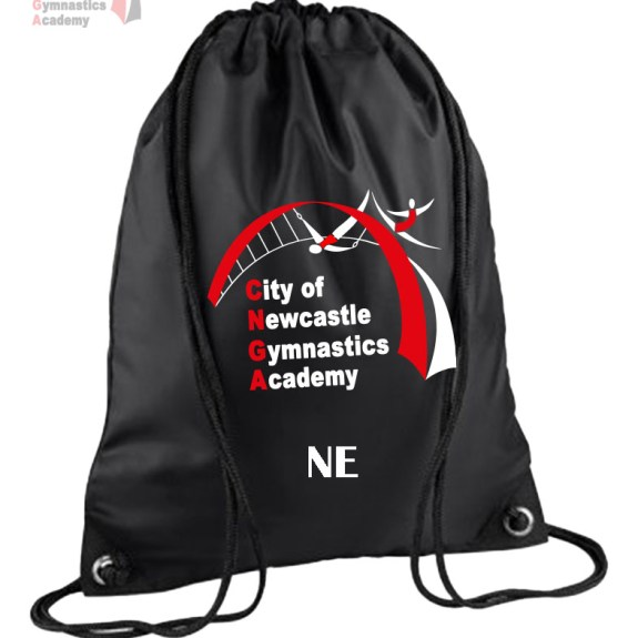 Personalised Newcastle Gymnastics Drawstring Bag