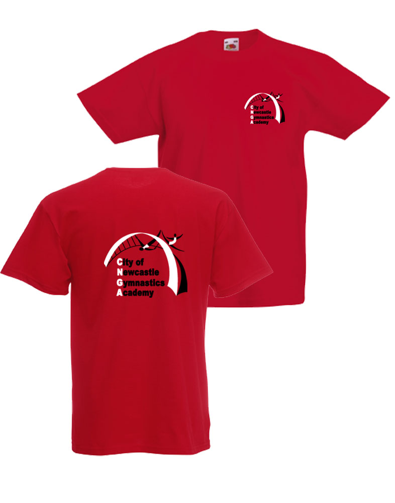 Newcastle Gymnastics T-Shirt - Red