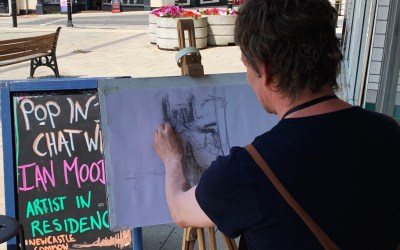 'Falling in love with the characters. Buying local from your community.' – Ian Mood, Newcastle Common Artist in Residence
