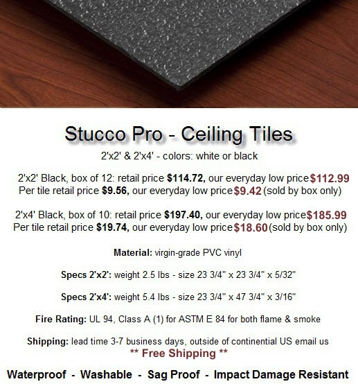 new ceiling tiles