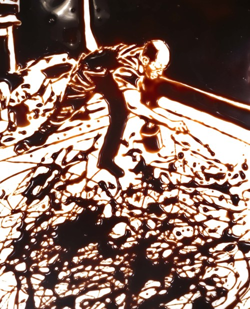Vik Muniz, Action Photo, After Hans Namuth, Images of Chocolate series, 1999, Digital C-print, 152,4 x 121,92cm, Artist's collection
