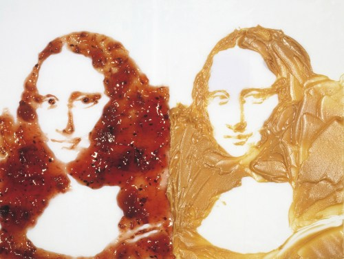 Vik Muniz, Double Mona Lisa (Peanut Butter And Jelly), After Warhol series, 1999, Cibachrome print, 130 x 180,5cm, Artist's collection