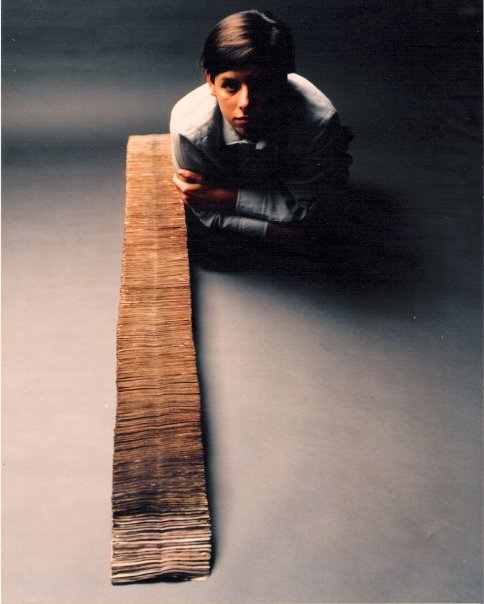 Jac Leirner, 1986, with the series