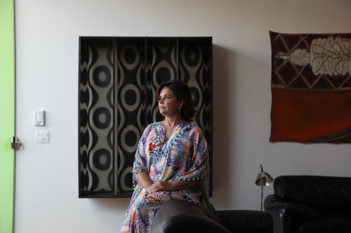 Gallerist Nara Roesler at home in São Paulo/Photo: Cristiano Mascaro