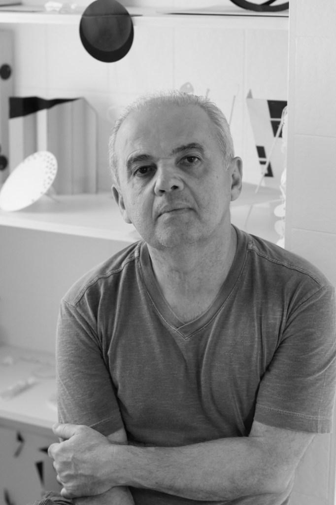 Macaparana in his studio in São Paulo, 2015/Photo: Maycon Lima