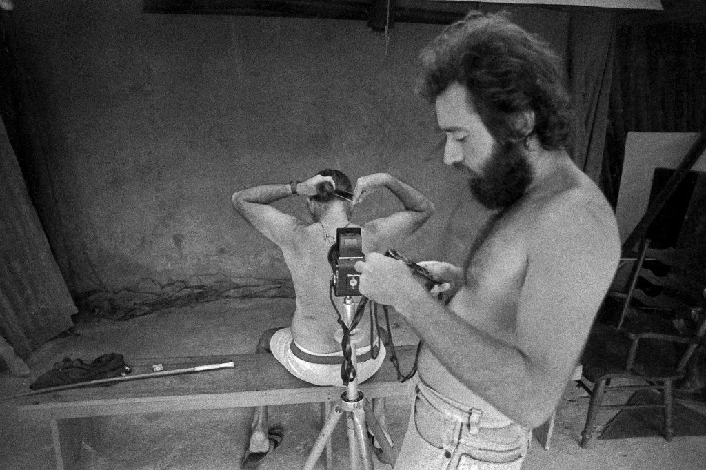 Vicente Sampaio, Mario, 1980, while Cravo photographed for the book %22Cravo 80%22, the first he did on his father's work
