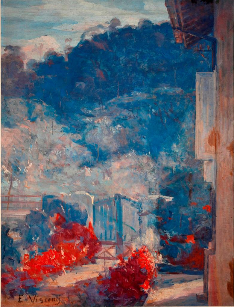 Eliseu Visconti, Raios de Sol Teresópolis, (Sun Rays at Teresópolis), 1935. On show at Almeida e Dale