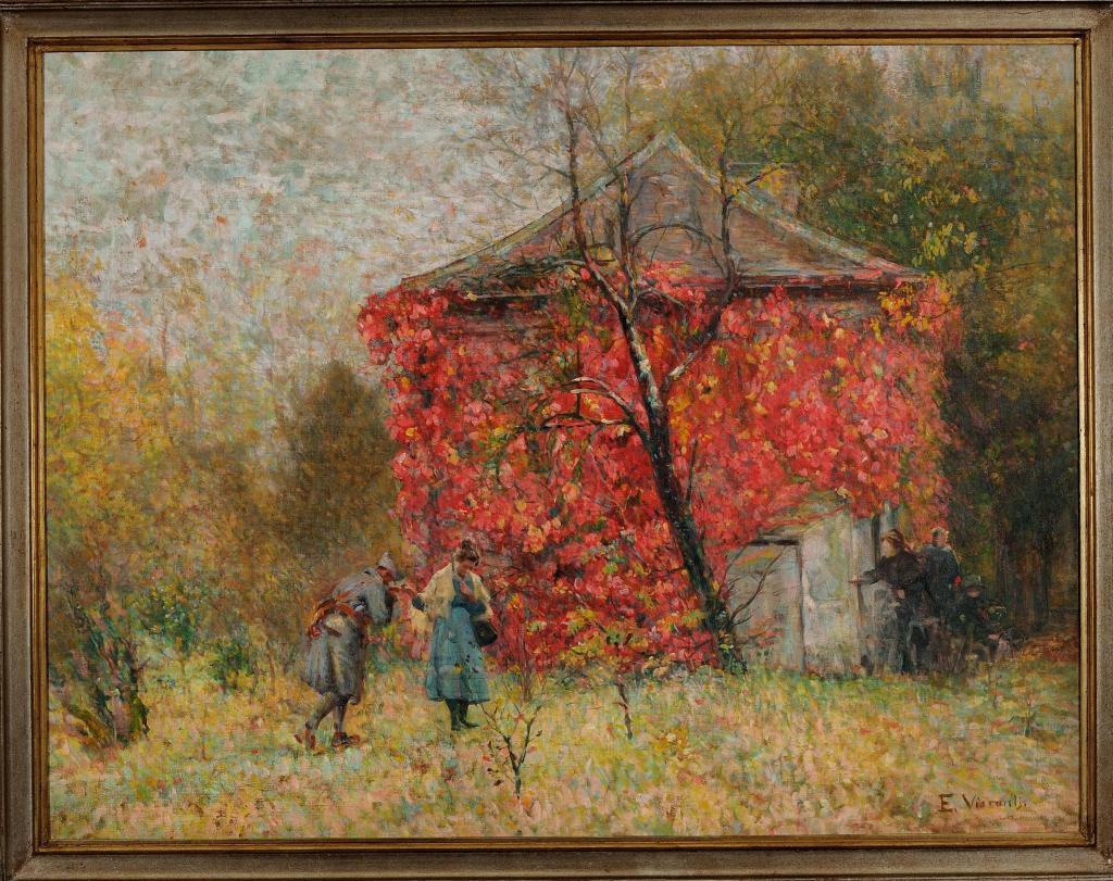 Eliseu Visconti, Volta às Trincheiras (Back to the Trenches), c. 1917, oil on canvas, 95 x 125 cm. On show at Almeida e Dale
