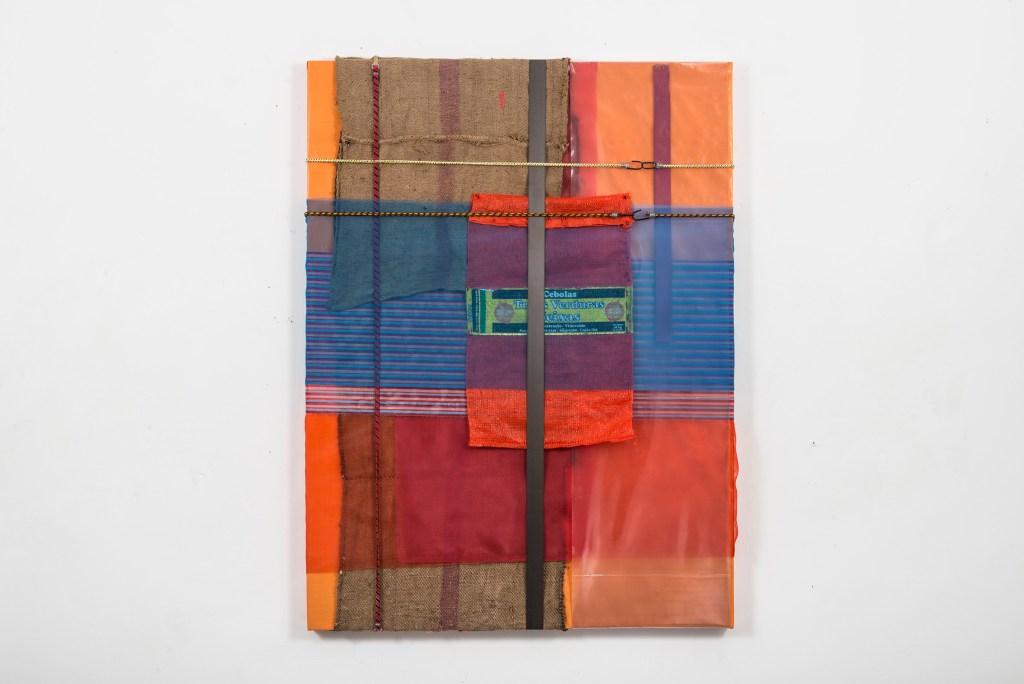Untitled, 2016, Origem Series, canvas, jute, raffia bags, nylon canvas, elastic and plastic