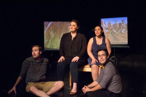 Matt Frye, Neala Barron, Anna Schultz and Nick Shoda/Photo: Zach Dries