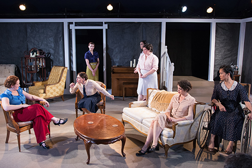 """The cast of Halcyon Theatre's """"Fefu and Her Friends.""""/Photo: Tom McGrath"""