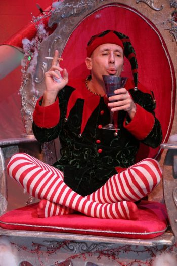 "Mitchelle Fain in ""This Way Outta Santaland"" at Theater Wit/Photo: Johnny Knight"