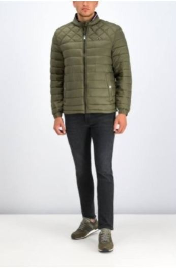 Tommy padded jacket groen C light weight Utility Olive