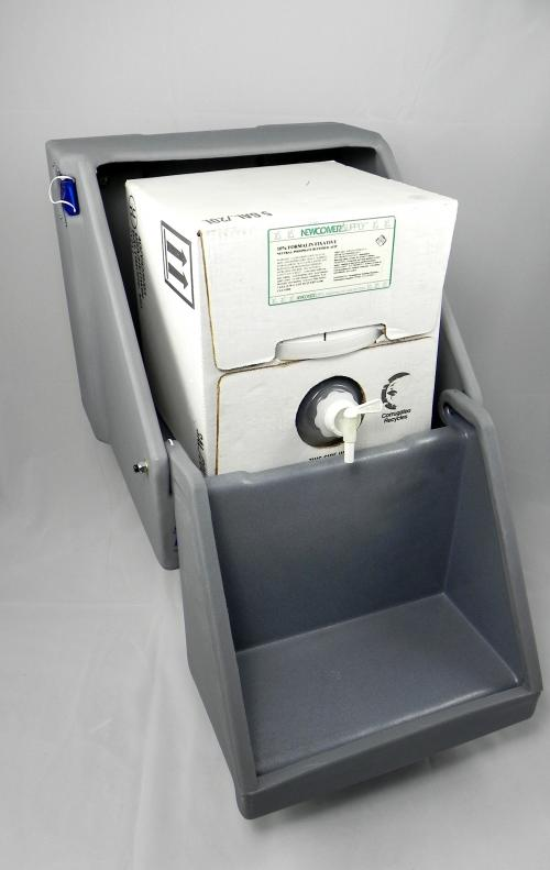 SafeCube Dispenser for Formalin Cube Containment