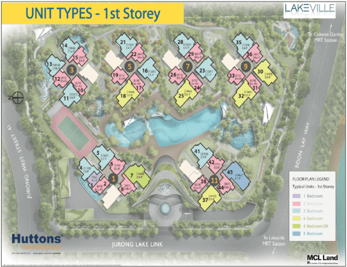New Condo Launch - LakeVille - Site Plan 1st Storey