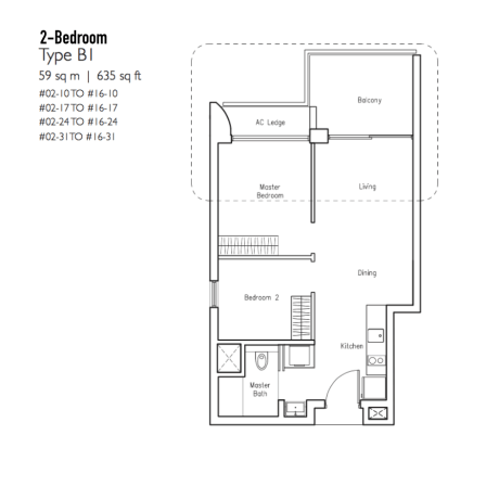 New Condo Launch - LakeVille - Floor Plan Type B1
